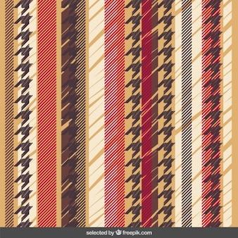 Paski wzór z houndstooth