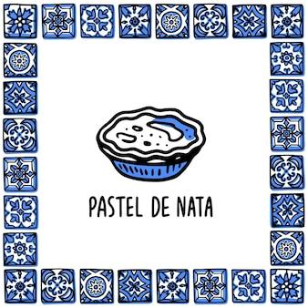 Pastel de nata tradycyjny portugalski deser tarta jajeczna