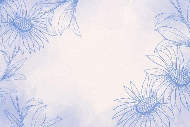 Pastel w proszku z ręcznie rysowane elementy - tło