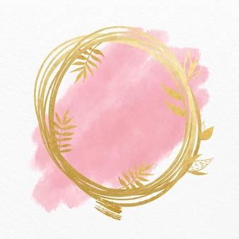 Pastelowa akwarela ze złotą ramą