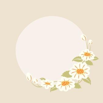 Pastelowa rama kwiatowa, wektor, śliczna ilustracja