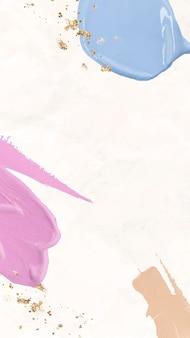 Pastelowa tapeta na telefon komórkowy tło wektor, tekstura rozmazywania farby