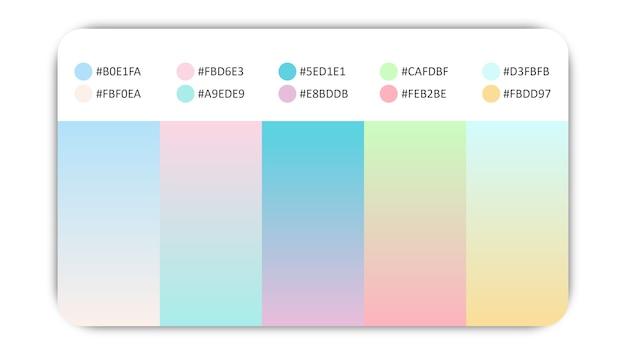 Pastelowe gradacje kolorów