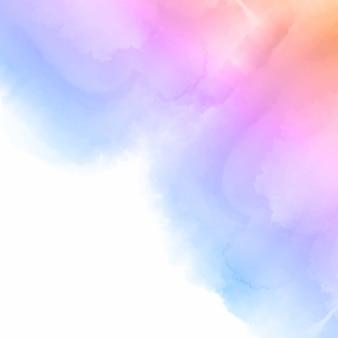Pastelowe kolorowe tło akwarela