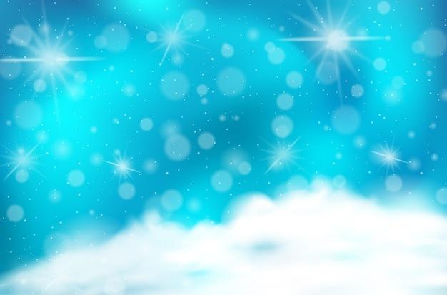 Pastelowe niebo magia bajki tło