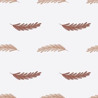 Pastelowe odcienie wzór z beżowym kłosem pszenicy. szare pastelowe tło. ręcznie rysowane styl. idealny do projektowania tkanin, nadruków na tekstyliach, zawijania, okładek. ilustracja wektorowa.