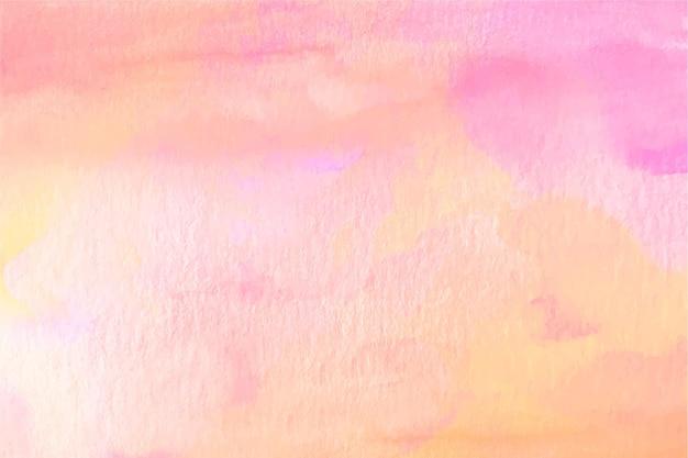 Pastelowe pomarańczowe i różowe tło akwarela