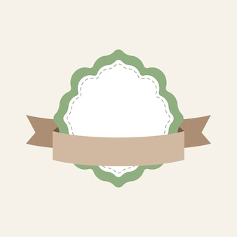 Pastelowe rama odznaka projekt wektor