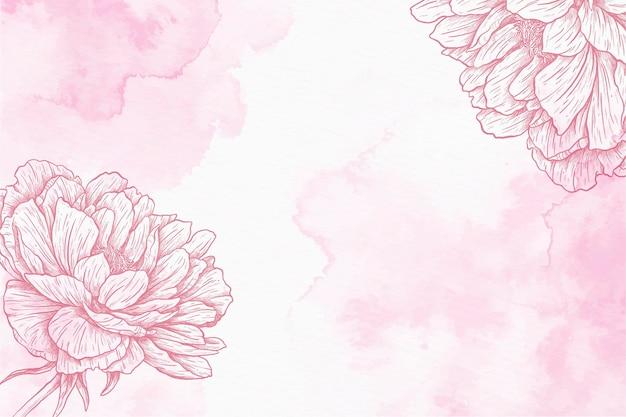 Pastelowe ręcznie rysowane tła ładny proszek