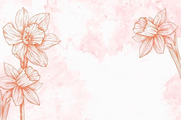 Pastelowe ręcznie rysowane tła w proszku czerwony