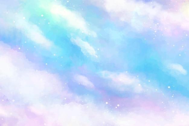 Pastelowe tło nieba