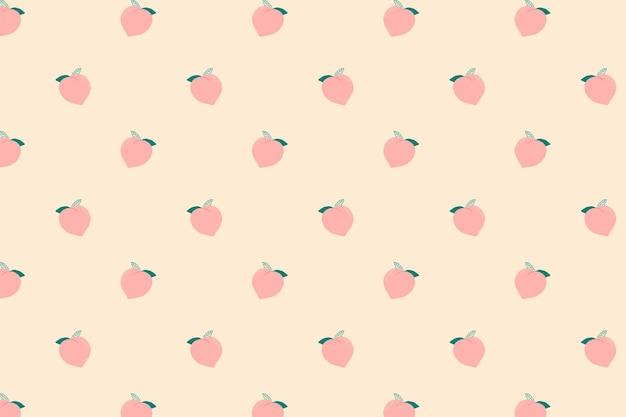 Pastelowe tło wzór brzoskwini