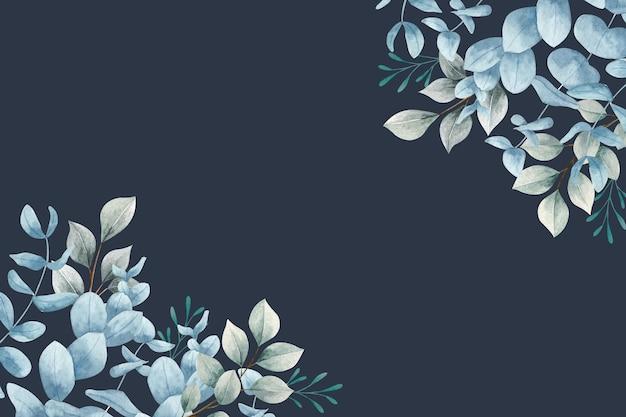 Pastelowe tło z liśćmi