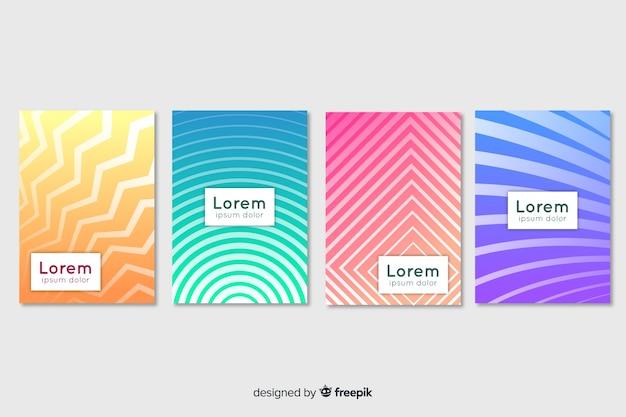 Pastelowy kolor geometryczny zestaw plakatów