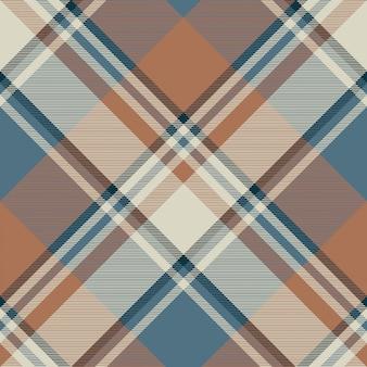 Pastelowy kolor klasycznej beżowej kratki bezszwowa tkanina tekstura