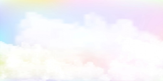 Pastelowy kolor tła akwarela niebo
