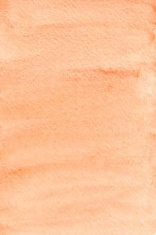 Pastelowy pomarańczowy akwarela tekstury papieru