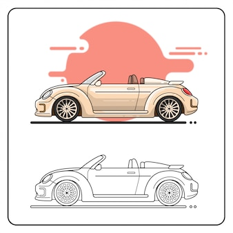 Pastelowy samochód