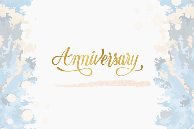 Pastelowy ślub rocznica karty wektor