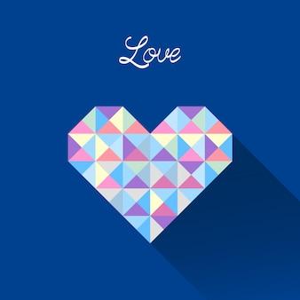 Pastelowy trójkąt wzór na serce