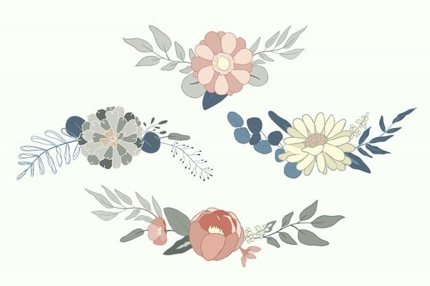 Pastelowy układ kwiatów