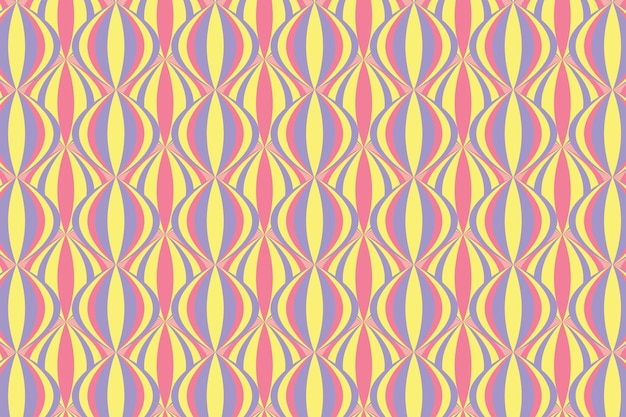Pastelowy wzór geometryczny groovy