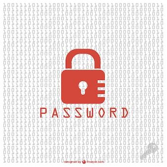 Pasword bezpieczeństwa vector