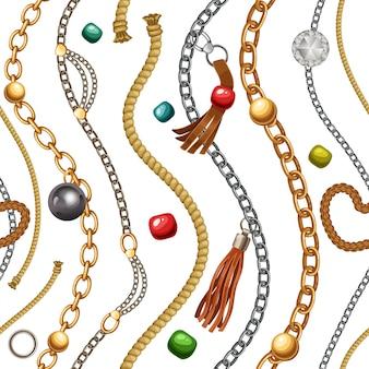 Pasy i łańcuchy, frędzle izolowane