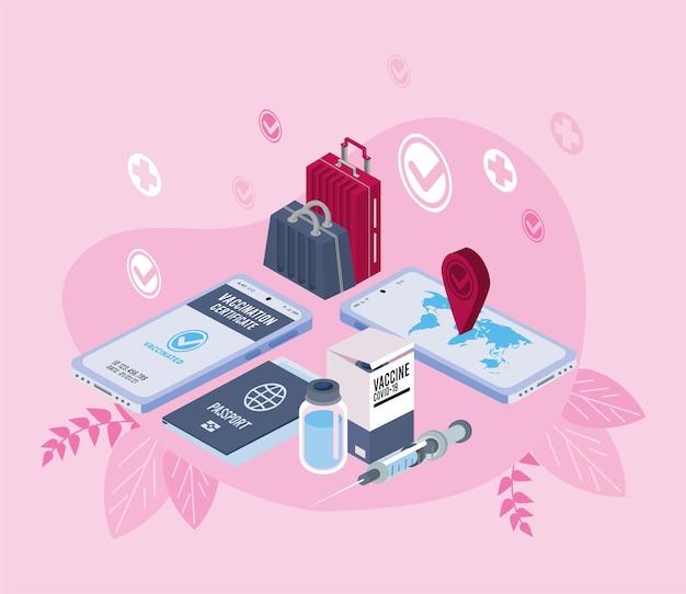 Paszport szczepionek i smartfony