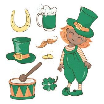 Patrick's day saint patrick's holiday vector illustration