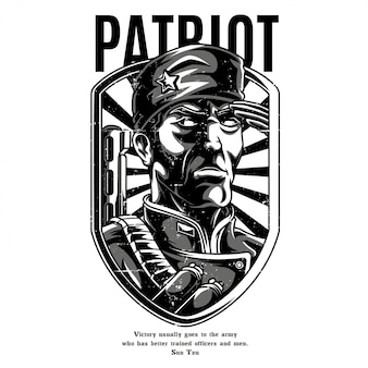 Patriot black and white