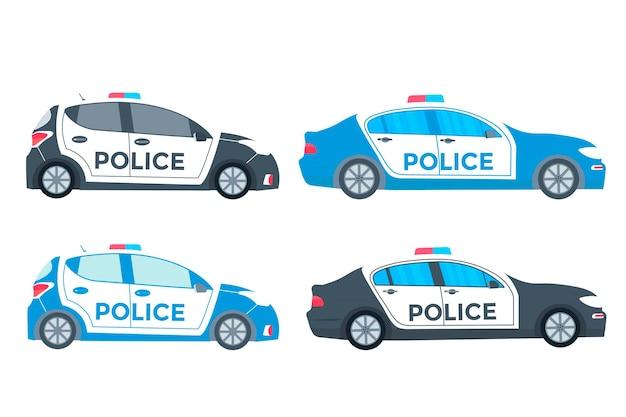 Patrol policyjny na drodze z radiowozem,