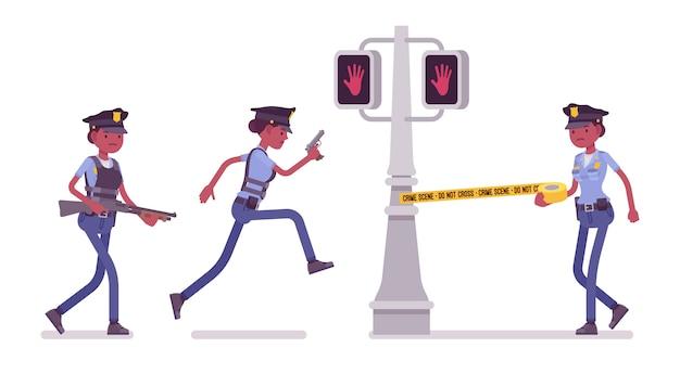 Patrolowanie miasta młodej policjantki