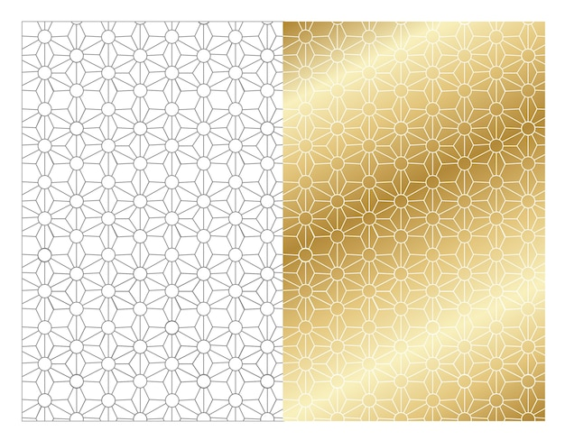 Patterns lines gold