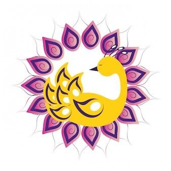 Paw kolorowy symbol