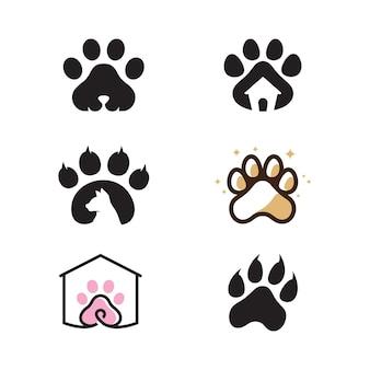 Paw logo projekt wektor ilustracja szablon projektu