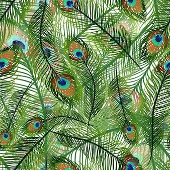 Pawie pióra wzór