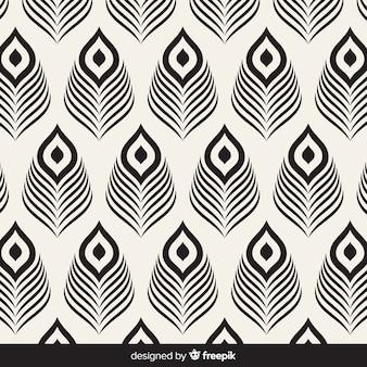 Pawie pióro wzór