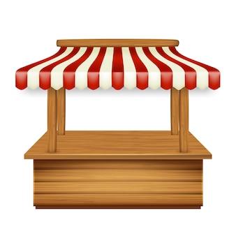 Pawilon rynku kiosk z markizą sklepu
