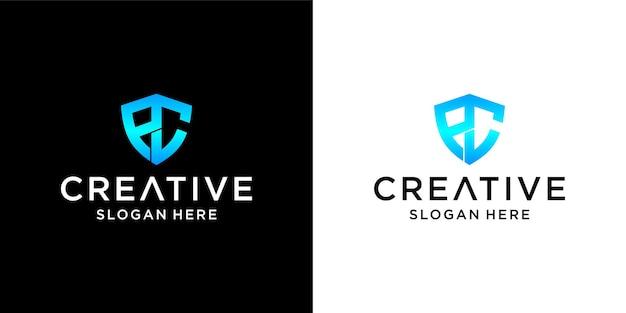 Pc tarcza projektowanie logo