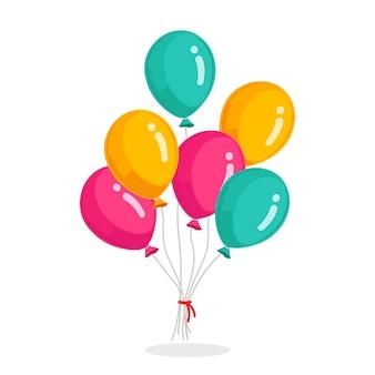 Pęczek balon helu na białym tle