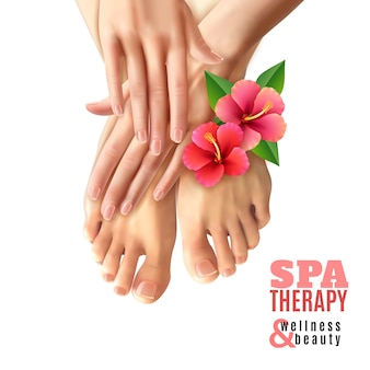 Pedicure manicure spa salon plakat