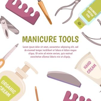 Pedicure narzędzia koncepcja