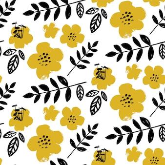 Pędzel teksturowany wzór kwiatowy.