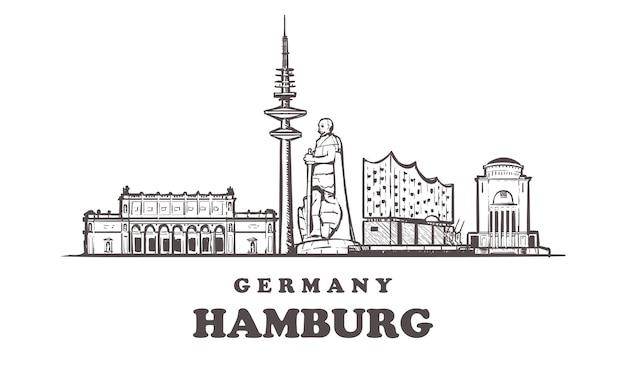 Pejzaż hamburg, niemcy