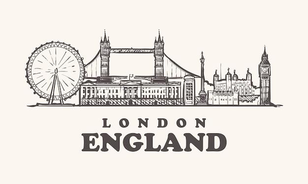 Pejzaż londyn, anglia