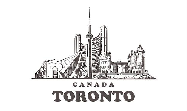 Pejzaż miejski toronto, kanada