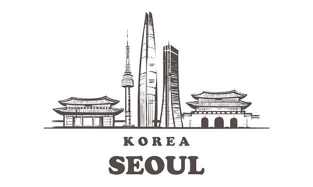 Pejzaż miejski w seulu, korea