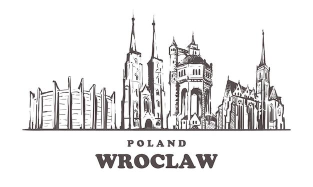 Pejzaż wrocław, polska