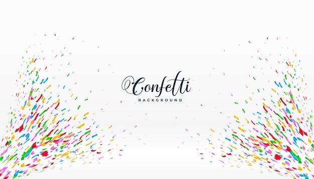 Pękający kolorowy baner na uroczystość confetti
